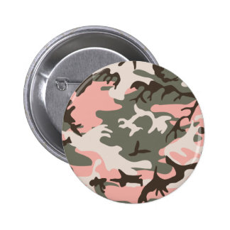 Botón rosado del camuflaje