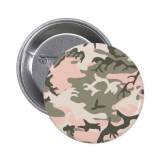 Botón rosado del camuflaje pin
