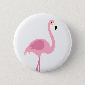 Botón rosado del Pin de la insignia del flamenco