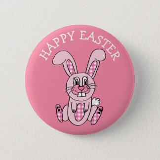 Botón rosado feliz del conejo de conejito de la