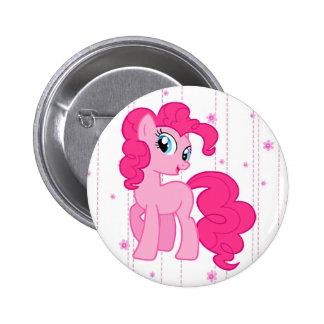 Botón rosado mágico lindo del potro
