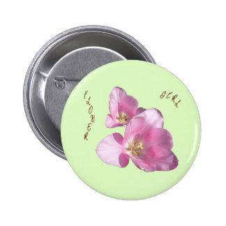 Botón rosado soleado del florista de los tulipanes