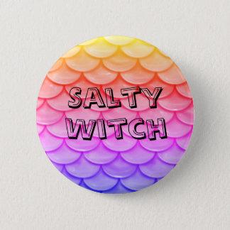 Botón salado del Pin de la bruja de la sirena