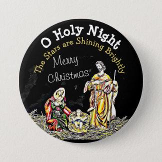 Botón santo del navidad de Jesús del bebé de la