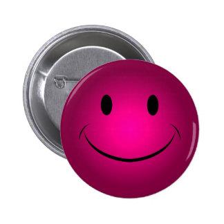 Botón sonriente color de rosa de la cara
