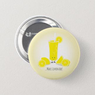 Botón sonriente del vidrio el   de la limonada