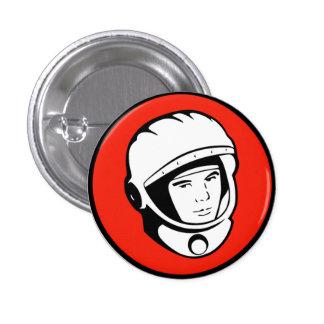 Botón soviético rojo del cosmonauta