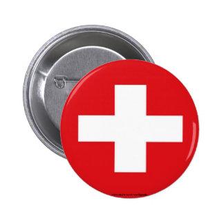 Botón suizo de la bandera
