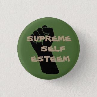 Botón supremo del amor propio del verde/del moreno