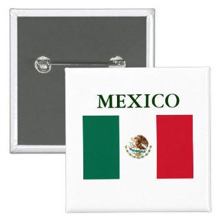 Botón trasero del Pin de la bandera de México