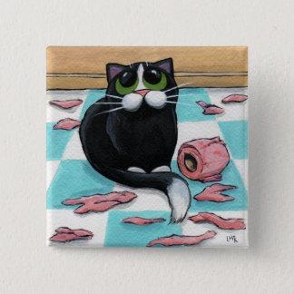 Botón travieso del gato