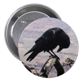 Botón triste 01 del cuervo pin