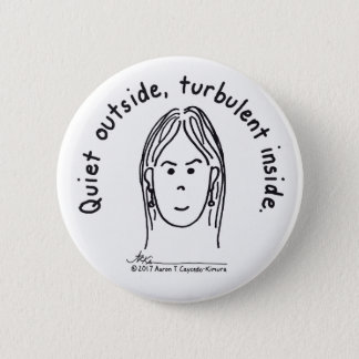 Botón turbulento del blanco del interior