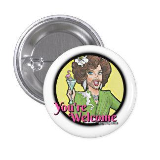 Botón: Usted es agradable Chapa Redonda De 2,5 Cm