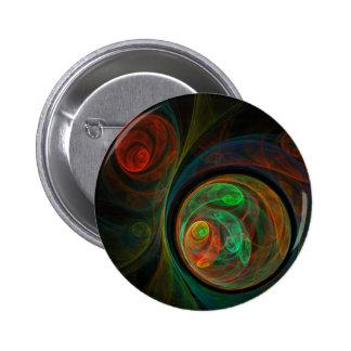 Botón verde del arte abstracto del renacimiento (r