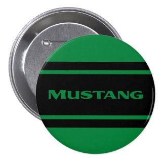 Botón verde del coche del músculo de la raya de la pins