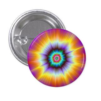 Botón violeta de la explosión del naranja y de la