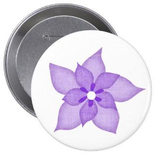 Botón violeta de la flor pin