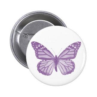 Botón violeta de la mariposa pins