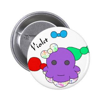 Botón violeta de Squidlin Pins