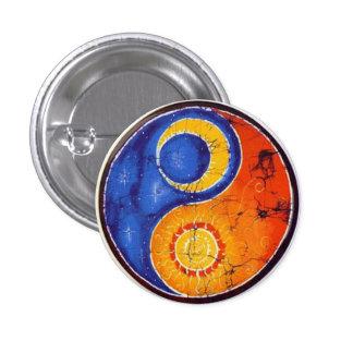 Boton Yin Yang Chapa Redonda De 2,5 Cm
