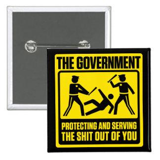 Botones amonestadores del gobierno chapa cuadrada
