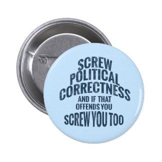 Botones antis de la corrección política chapa redonda 5 cm