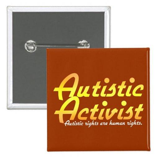 Botones autísticos del activista (oro) pin