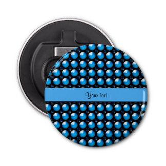 Botones azules elegantes abrebotellas