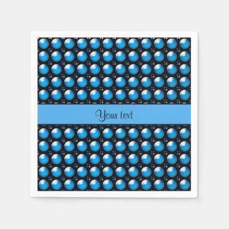 Botones azules elegantes servilletas desechables