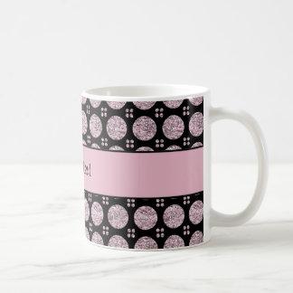 Botones brillantes glamorosos del brillo de la taza de café