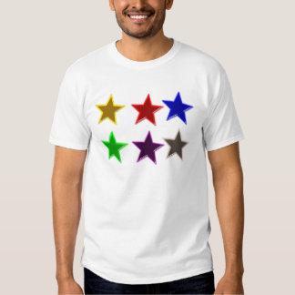 Botones coloridos de la estrella camisas
