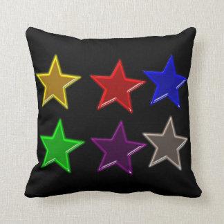Botones coloridos de la estrella cojín