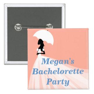 Botones con clase del fiesta de Bachelorette Chapa Cuadrada 5 Cm