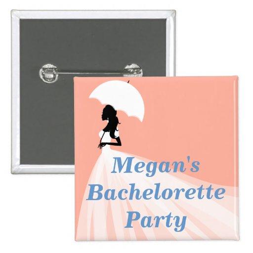 Botones con clase del fiesta de Bachelorette Pin