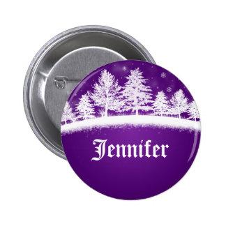 Botones conocidos de la púrpura de las etiquetas d chapa redonda 5 cm