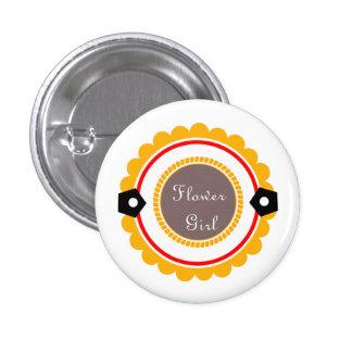 Botones de encargo del florista del boda chapa redonda de 2,5 cm