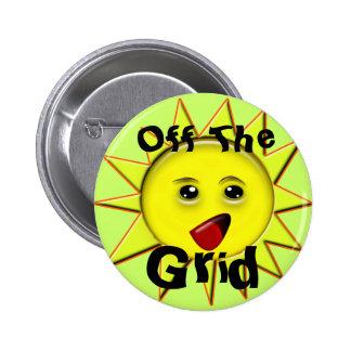 Botones de encendido solares chapa redonda 5 cm