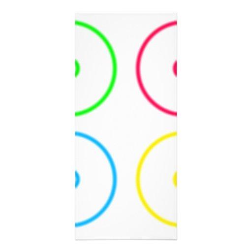 Botones de encendido tarjeta publicitaria