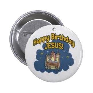 botones de Jesús del feliz cumpleaños Pin