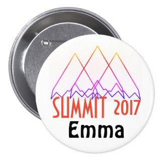 Botones de la cumbre chapa redonda de 7 cm