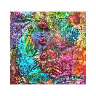Botones de la frambuesa lienzo envuelto para galerías