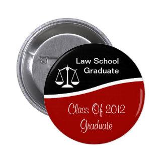 Botones de la graduación del colegio de abogados chapa redonda 5 cm