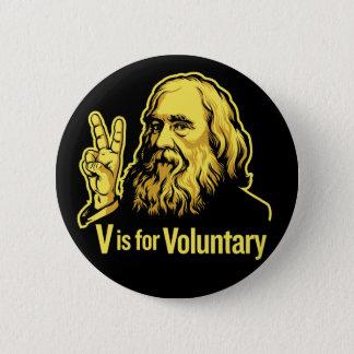 Botones de Lysander Spooner Voluntaryism Chapa Redonda De 5 Cm