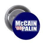Botones de McCain Palin Pin
