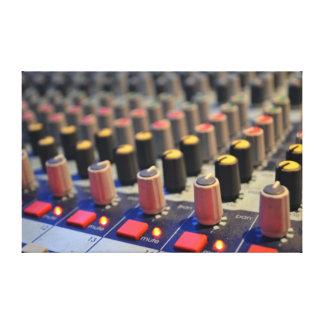 Botones de mezcla del tablero impresión en tela
