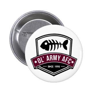 ¡Botones del AFC del ejército de Ol!!! Chapa Redonda De 5 Cm