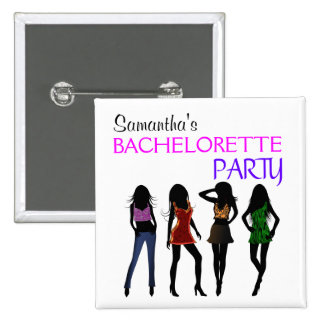 Botones del cuadrado del fiesta de Bachelorette de Chapa Cuadrada 5 Cm