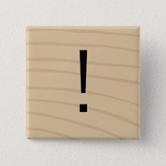 Botones del juego de la teja de la letra: ¡Marca Chapa Cuadrada