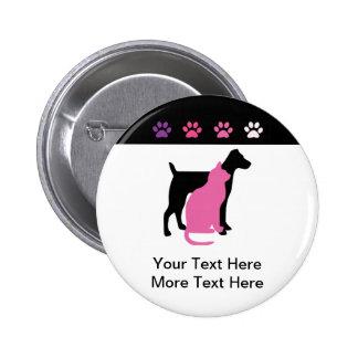 Botones del negocio del cuidado de animales de com chapa redonda de 5 cm